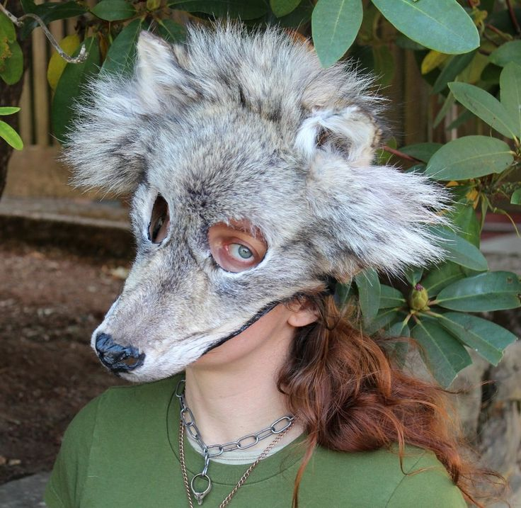 Wolf mask style headdress by Lupa, 2012. http://www.thegreenwolf.com/artwork.html