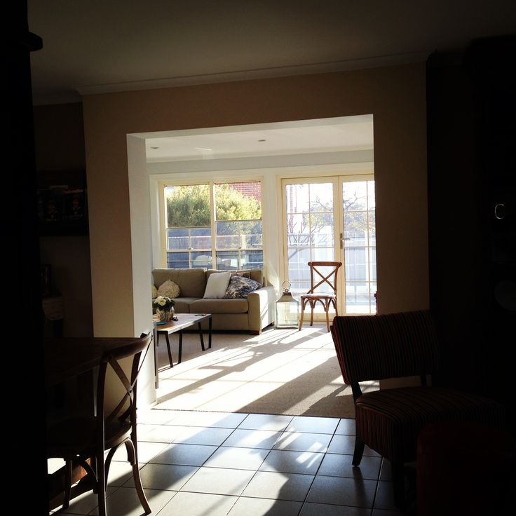 I love the sun streaming in on a spring day