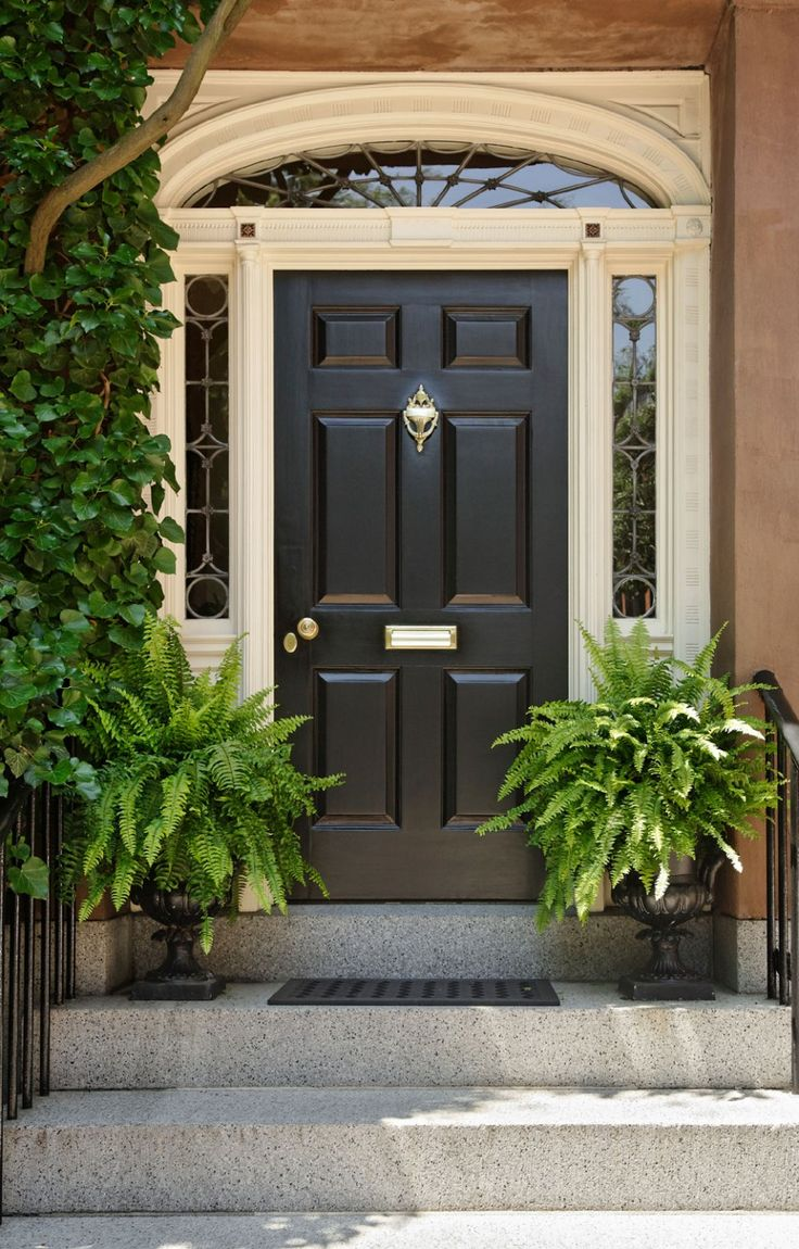 Red front door brown house - What Color Is Your Front Door Front Doors Should Be An Accent Color In Other Words They Should Be A Strong Dramatic Bold Shade