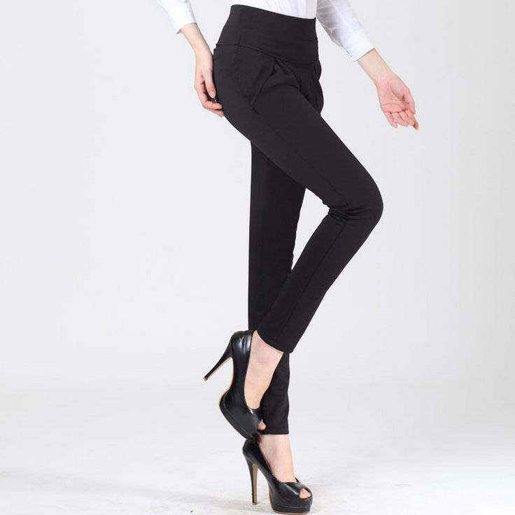 ==> [Free Shipping] Buy Best Korean Style Spring Plus Size Harem Pants Office Lady Elegant Show Thin Pants Women Slim Trousers Online with LOWEST Price | 32791025057