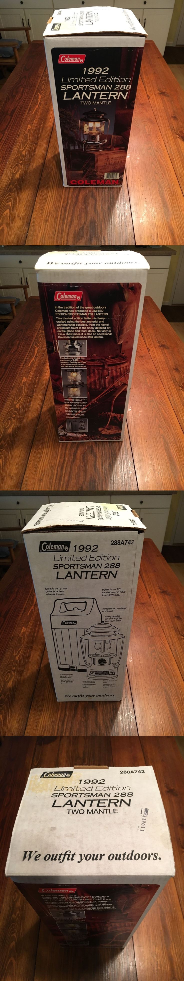 Lanterns 168867: Coleman 1992 Limited Edition Sportsman 288 Lantern New In Box !!! -> BUY IT NOW ONLY: $400 on eBay!