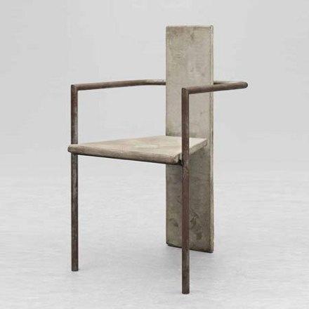John Bohlin Concrete ChairSweden1981Jonas BOHLIN (Stockholm, 1953)Produced by KällemoConcrete and tubular steel