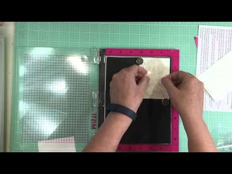 Stamping Small Solid Image with MISTI - YouTube
