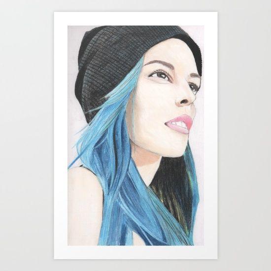 Lauren Calaway portrait Art Print by Chiara - $16.00