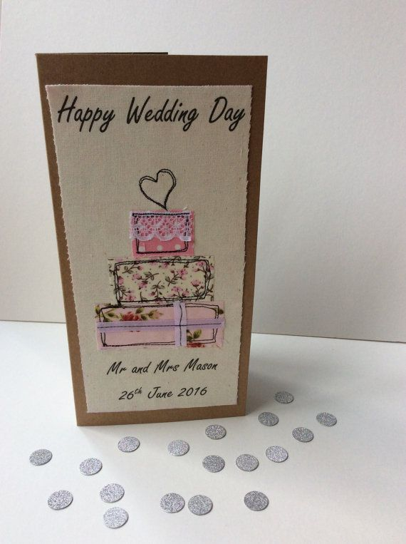 Personalised wedding card by Doodlebobbin on Etsy