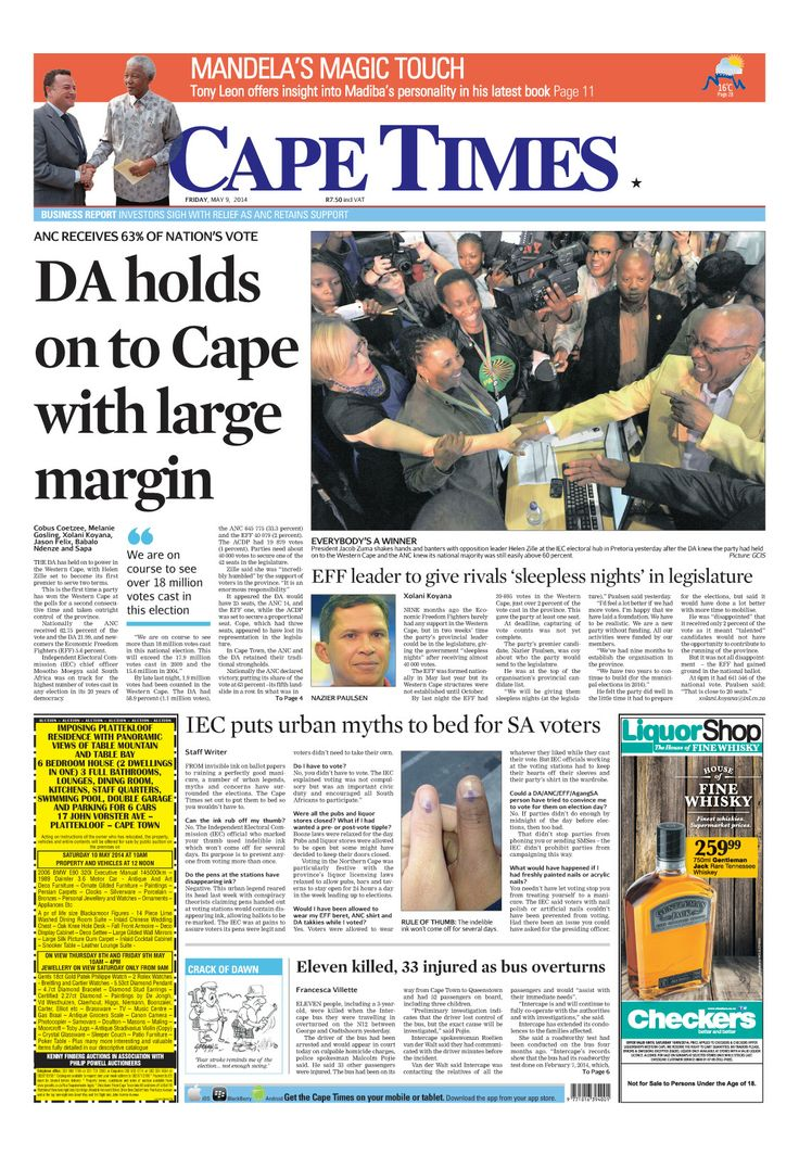 News making headlines: DA holds onto Cape with large margin