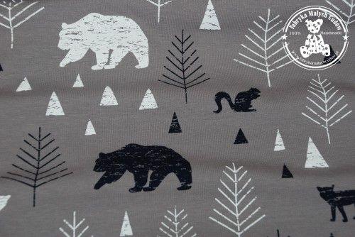 Dres niedźwiedzie w lesie grey (pętelka)