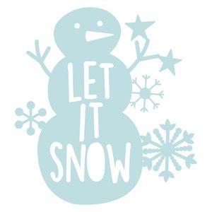 Silhouette Design Store: let it snow snowman