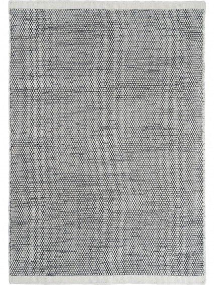 Tapis en laine Asko Noir & Blanc 80x250 cm