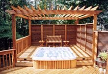 Hot Tub Ideas Backyard hot tub privacy walls hot tub can be a great addition to any backyard Backyard Hot Tub Ideas Bing Images Landscape Pinterest See Best Ideas About Backyard Hot Tubs