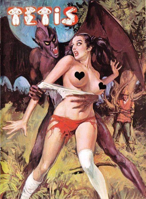 Erotic peril comic