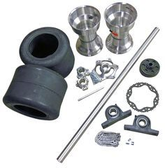 TDC Drift Trike 1-1/4'' Tubular Axle Kit with Tires, Rims, Clutch, & Sleeves | 334500_TDK | BMI Karts and Motorcycle Parts