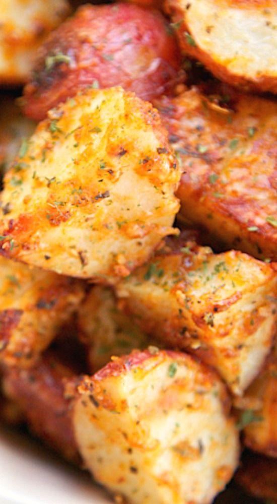 Garlic Parmesan Roasted Red Potatoes.