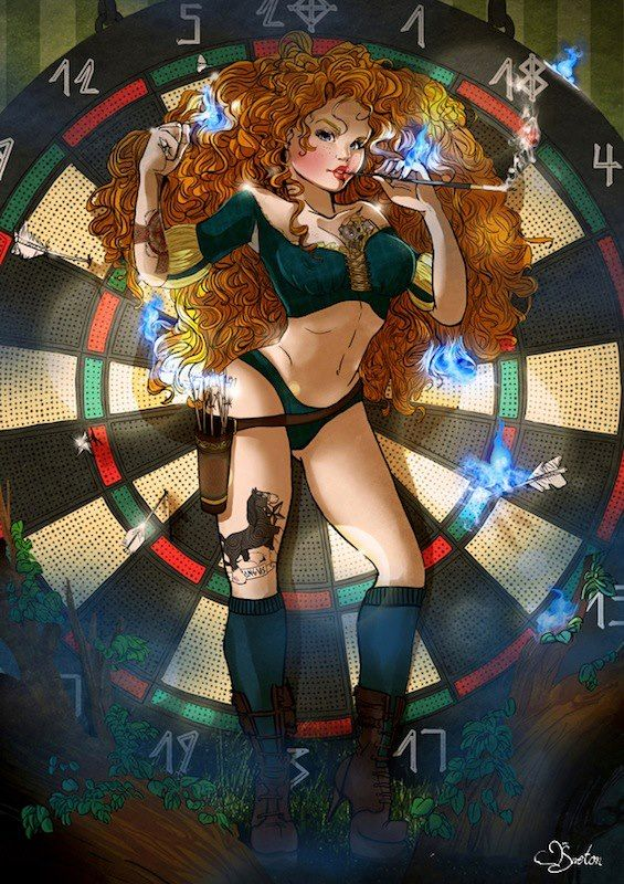 Pin up Disney Princesses + Anastasia. CLICK THROUGH. Not exactly SFW, but so so cool.