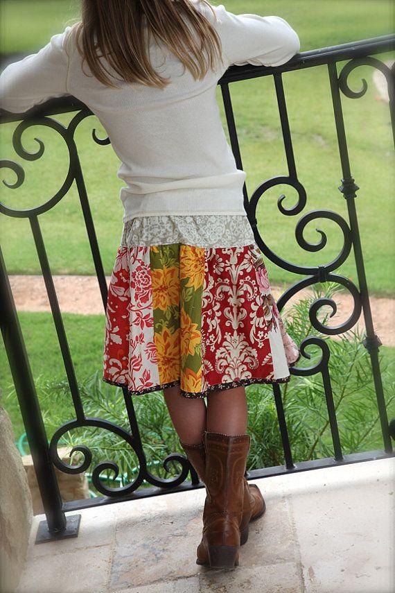GIRLS Twirl Panel Skirt DIY PDF Tutorial Pattern 18m - 10 years. $8.50, via Etsy.