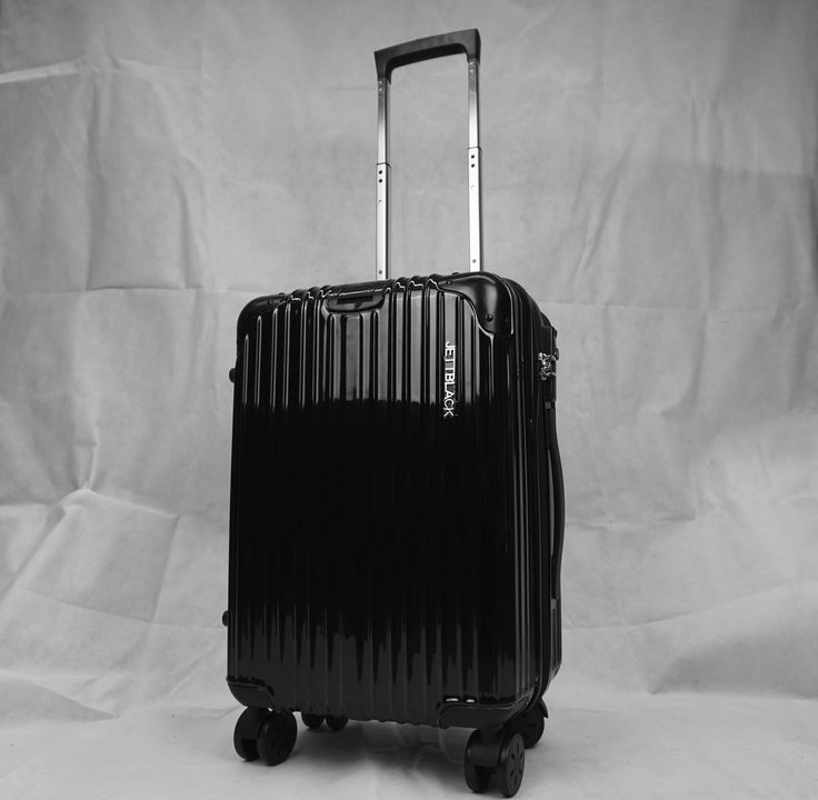 Boss Black Carry On Suitcase - By Jett Black.#JettBlackLuggage #Jetsetter #AirportStyle