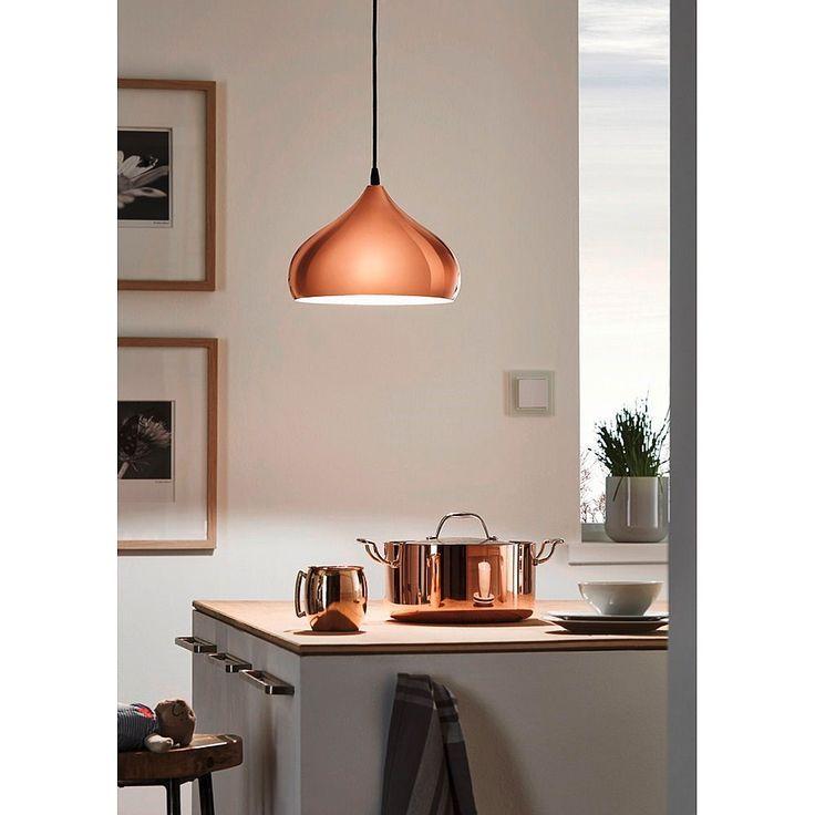 Echt een hele prachtige stijlvolle koperkleurige hanglamp