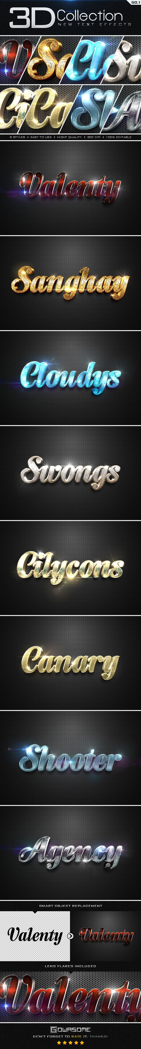 New 3D Collection Text Effects. Download here: http://graphicriver.net/item/new-3d-collection-text-effects-go1/9561348?ref=ksioks