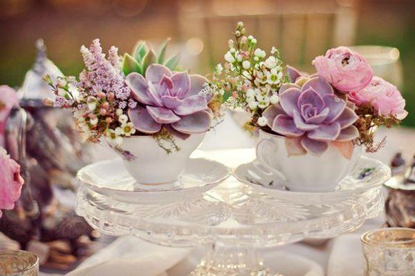 Centro mesa boda suculentas