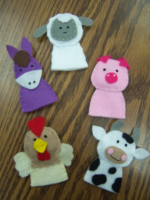 I love finger puppets! They are great for story re-tells and can be used for storyboarding on a felt base. I really want to start sewing my own. Summer project? I could make them for some of the stories I know I'm going to use year after year.