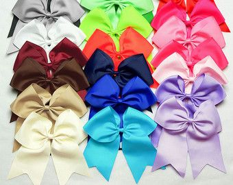 Pick 3 Cheer Bows BIG cheerleading bows pink by Princessory