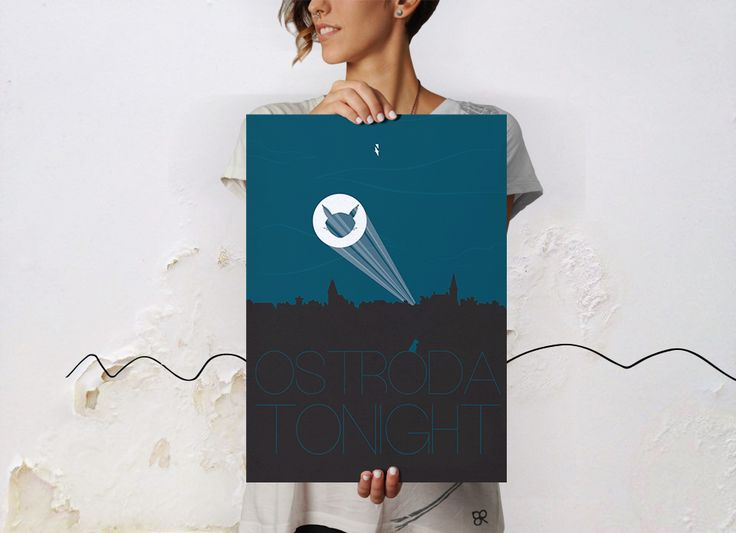 OSTRÓDA TONIGHT - brzydki plakat print