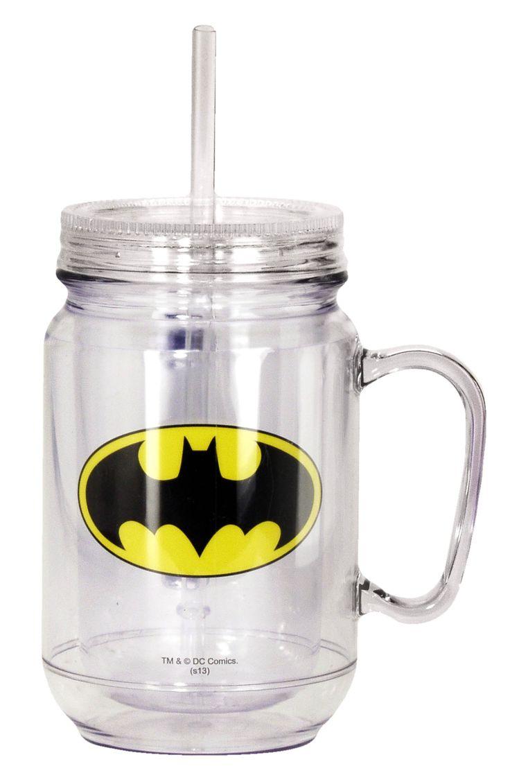 DC Comics Batman Mason Jar by Spoontiques