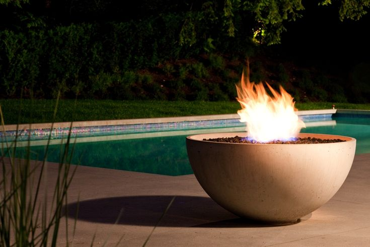 28 best images about firepits and firetables on pinterest - Pool fire bowls ...