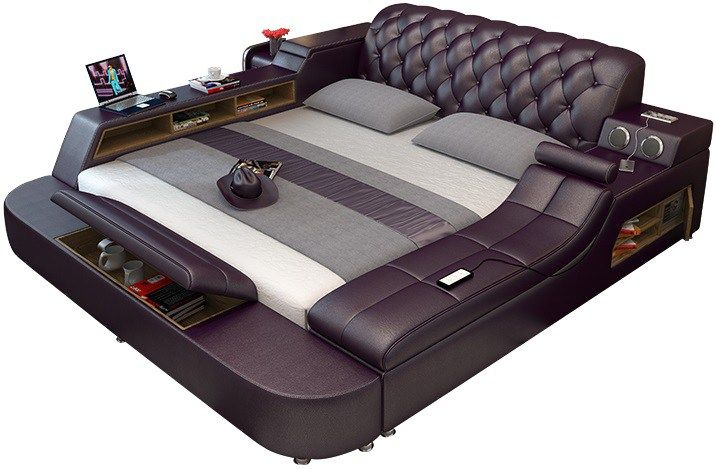 Tatami Massage Bed Leather Bed Massage Bed Modern Bed
