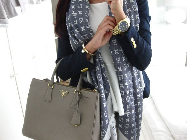 prada mens bags online - Prada Saffiano in Grey and Louis Vuitton Monogram Shawl. | Looks I ...