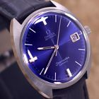VINTAGE MEN'S OMEGA SEAMASTER COSMIC AUTOMATIC DATE BLUE DIAL ANALOG DRESS WATCH