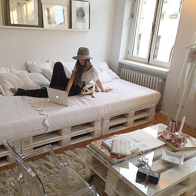 16 pomysłów na własnoręcznie robione łóżka z palet. Niezwykłe! [GALERIA WNĘTRZ]