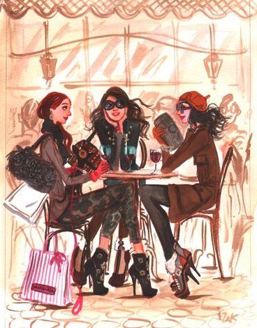 women in paris with their dogs and high heels-  Izak Zenou--artist   Sharon Santoni