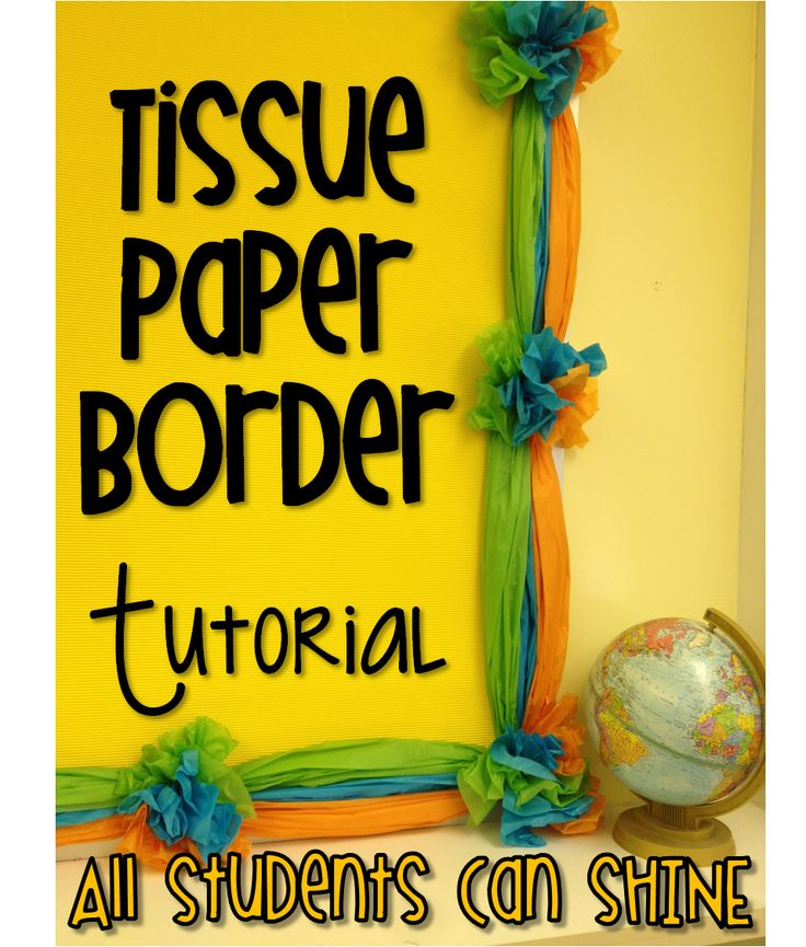 Hi everyone,           I'm here to show you how I made my tissue paper border for my bulletin board. I posted a picture of it on Instagr...
