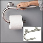 Grab Bar with Toilet Paper Holder