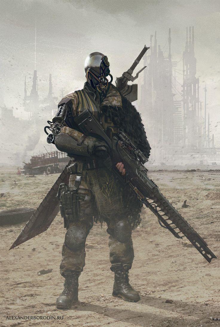 Cyber Soldier, Alexander Borodin on ArtStation at https://www.artstation.com/artwork/cyber-soldier-f9c6ccb6-437d-44ad-90da-e1b65ae22d36