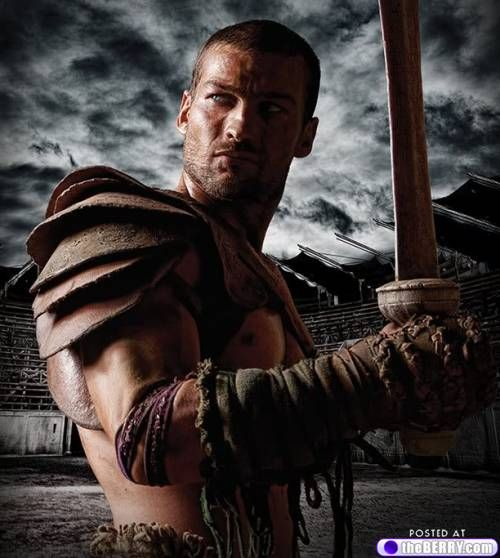 Andy Whitfield on Spartacus