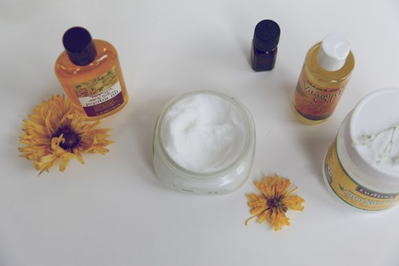 Homemade Coconut Lavender Conditioner - Place 1 cup of coconut oil, 1tsp of vitamin E oil, 1 tsp of jojoba oil, and 5 drops of lavender essential oil, into a mixing bowl. Mix on high for 8 minutes. Transfer into a container and then you're all set!