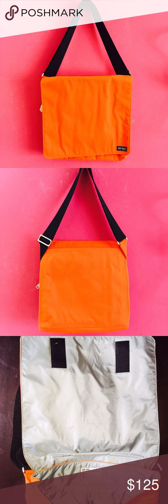 Jack Spade square canvas messenger bag Brand new square orange canvas messenger beg. Jack Spade Bags Messenger Bags