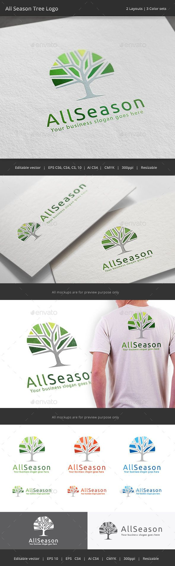 All Season Tree Logo - Nature Logo Templates