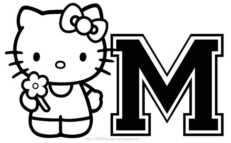 17 Best Images About Hello Kitty Letters On Pinterest