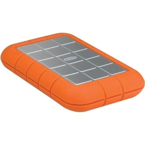 LaCie - Rugged Triple 301984 1 TB External Hard Drive - Orange - Larger Front