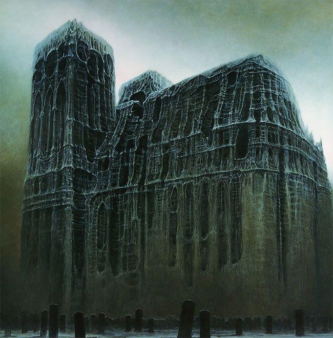 A arte obscura solitária morbida demoníaca de Zdzisław Beksiński