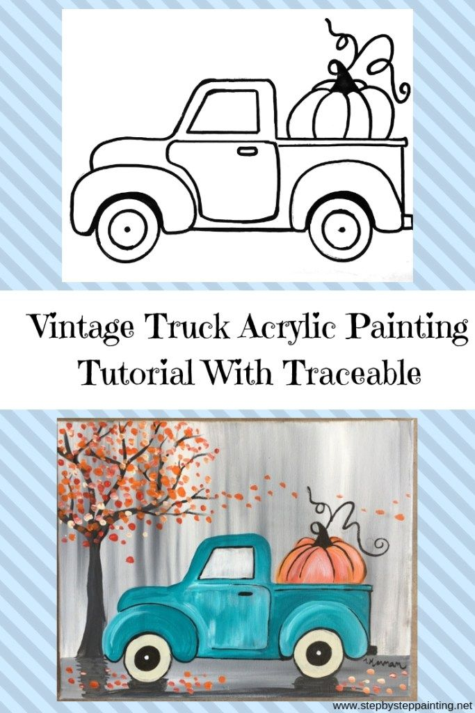 d4e7a02331e How To Paint A Vintage Pumpkin Truck   Rocks   Painting, Art, Tole ...