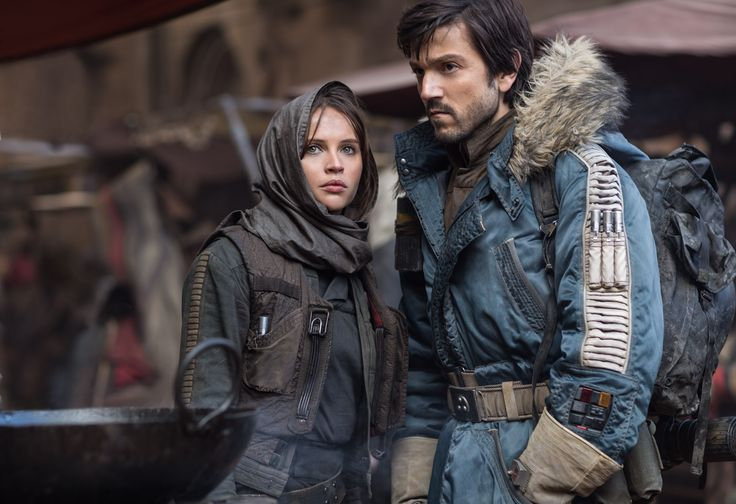Jyn Erso and Captain Cassian Andor in Rogue One