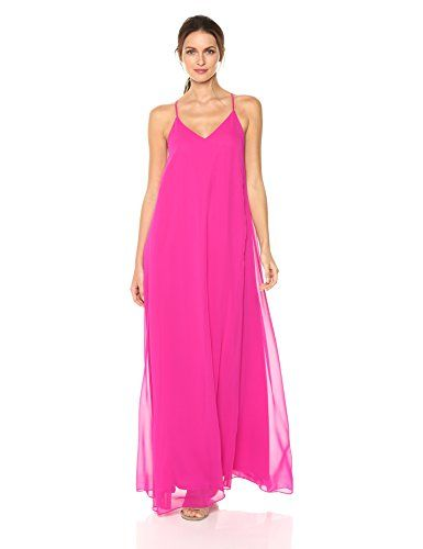 New Nicole Miller York Women S V Neck Spaghetti Strap Long Maxi Party Dress Online