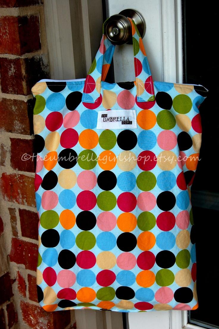 1 - Large -Wet Bag - Dotted. $25.00, via Etsy.
