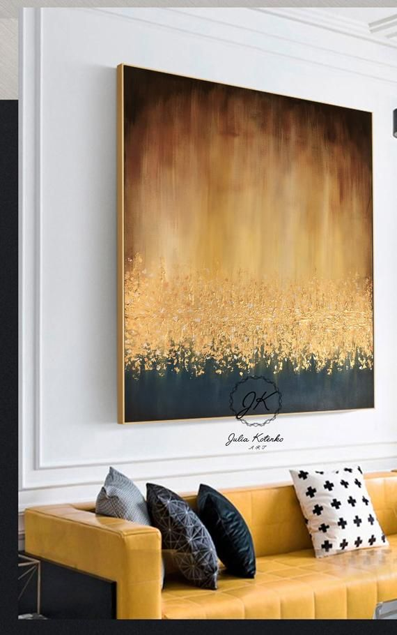 Abstract Painting On Canvas, Large Wall Art, Textured Art, Large Canvas Art,Gold Leaf Painting, Wall