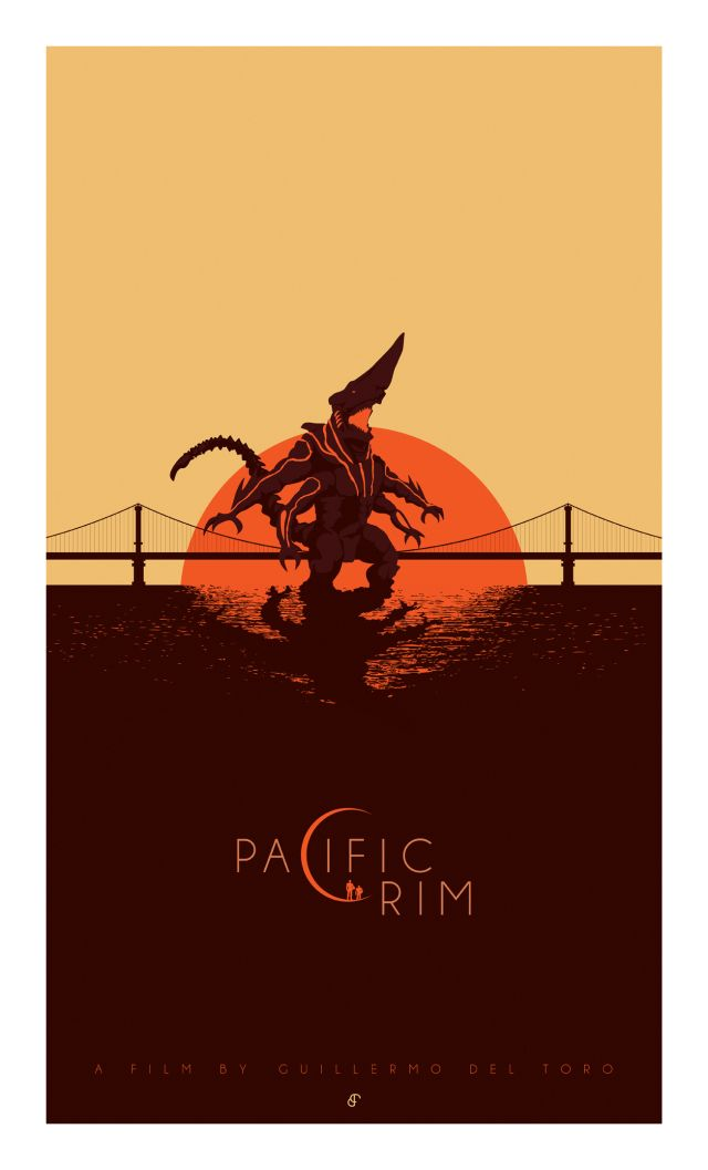 Pacific Rim -Patrick Connan  http://blurppy.com/2013/07/02/exclusive-blurppy-poster-posse-project-3-warner-bros-guillermo-del-toros-robots-vs-monsters-sci-fi-action-flick-pacific-rim-phase-2/