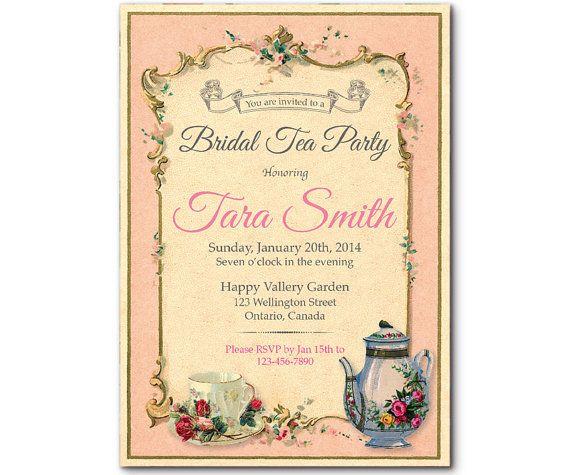 Vintage Tea Party Wedding Invitations: 17 Best Ideas About High Tea Invitations On Pinterest